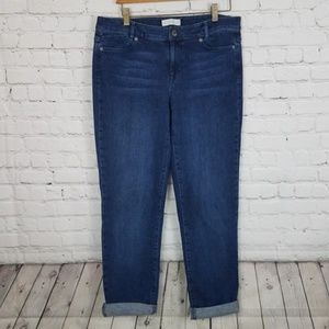 J. Jill Slim Boyfriend Straight Leg Stretch Jean